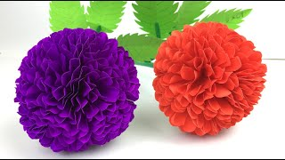 Easy Paper Flower | Paper Flowers Step By Step | Paper Flower Making | Paper Craft | Paper Crafts