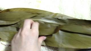 Okinawan Food: Mochi In Banana Leaf