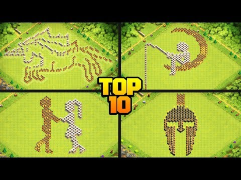 TOP 10 FUNNY/TROLL CoC Base Design Compilation For TH6 To TH12 W/ COPY LINKS! - Clash Of Clans