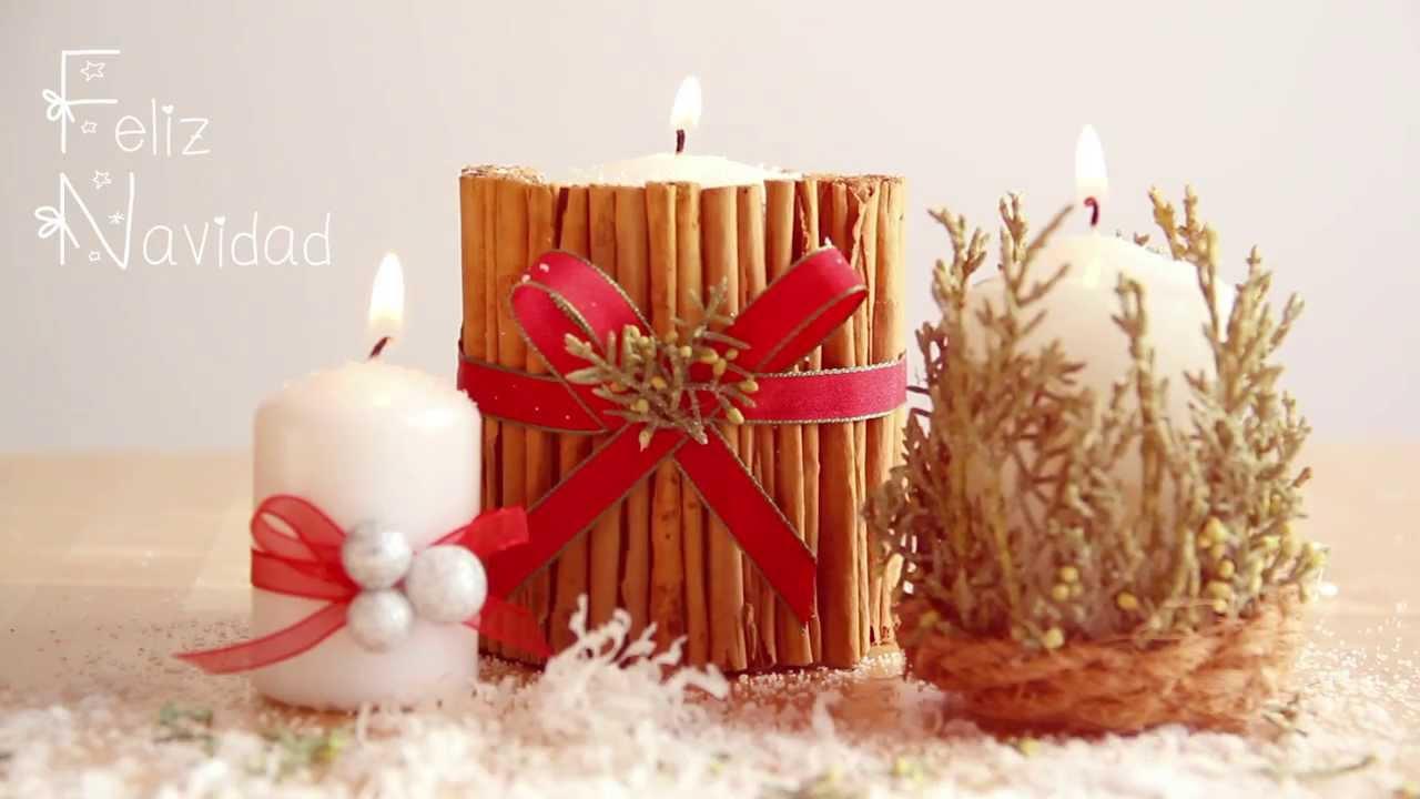 Manualidades de navidad c mo decorar una vela youtube - Como adornar en navidad ...