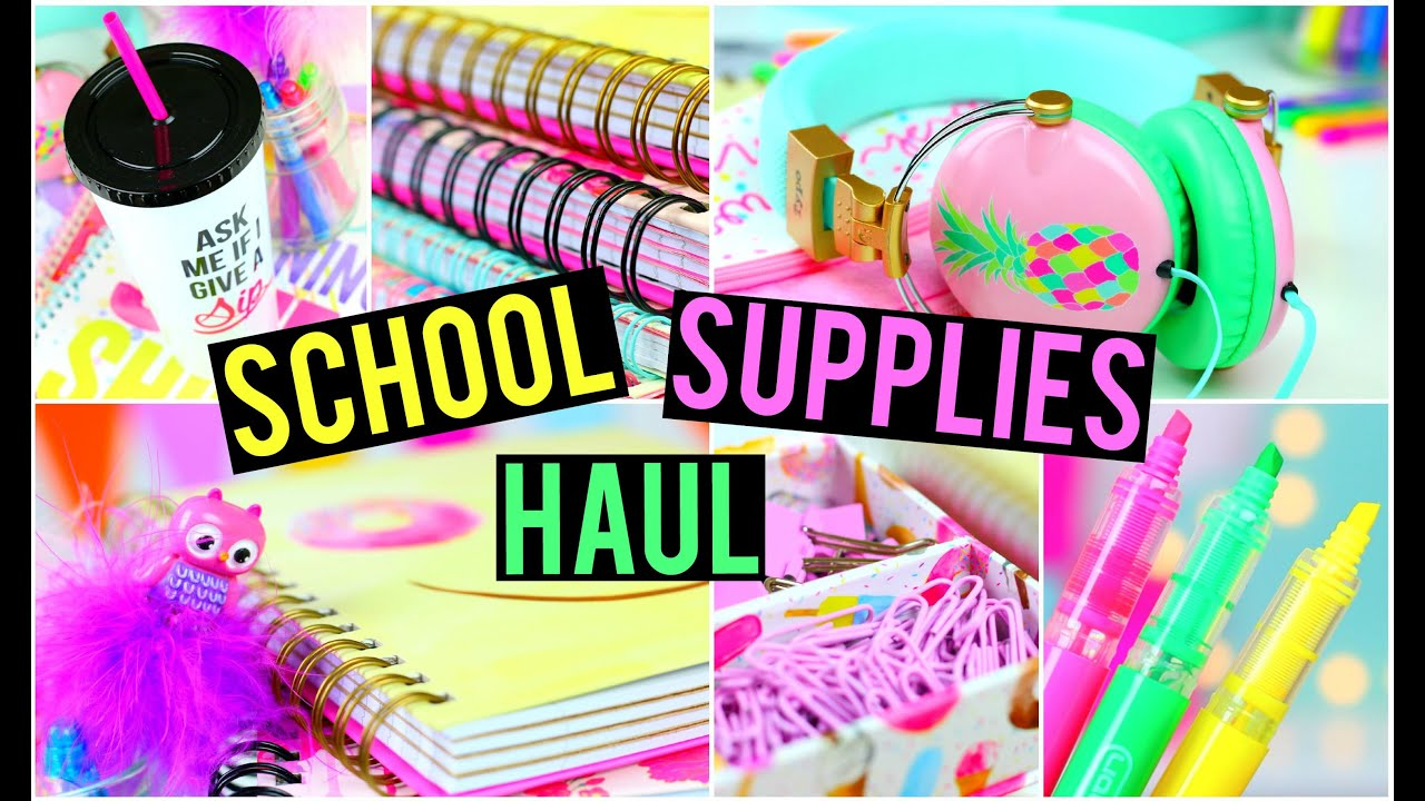 Back To School Supplies Haul! - YouTube