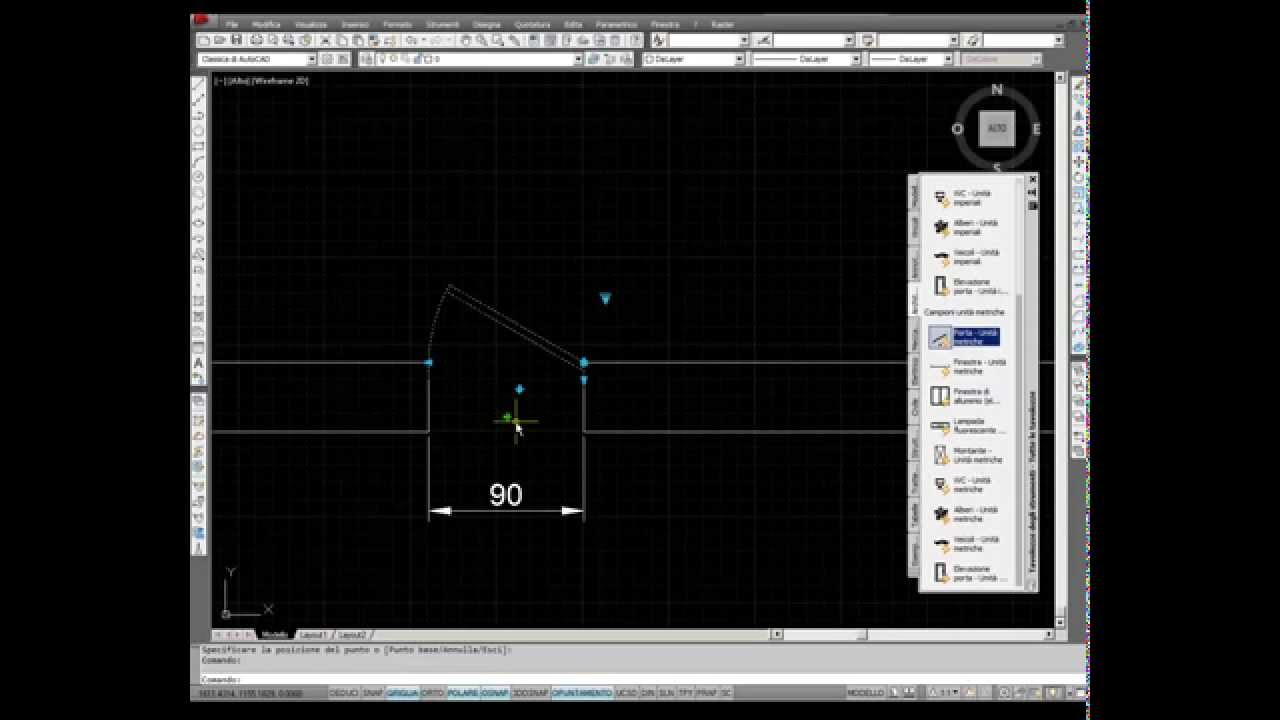 Blocchi dinamici in autocad youtube for Blocchi autocad arredi gratis