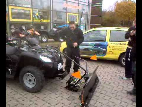 kymko mxu 500 atv 4x4 mit tielb rger schneeschild youtube. Black Bedroom Furniture Sets. Home Design Ideas