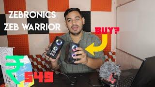 zebronics Zeb-Warrior 2 0 Multimedia Speaker Review
