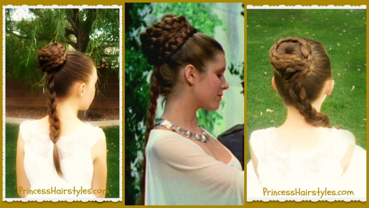 Princess Leia Hairstyle, Spiral Braid Ceremony Updo, Star ...