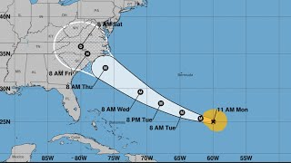Hurricane Florence strengthens back to category three thumbnail