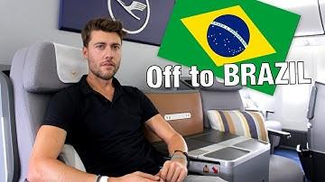 ICH FLIEGE ZUM DREH MIT LUFTHANSA NACH BRASILIEN