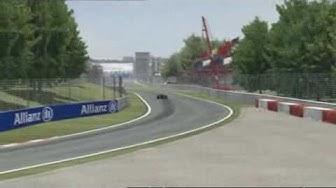 F1 Strecke: Virtuelle Runde in Monza, Italien 2009