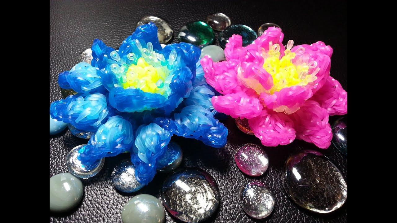 Rainbow loom 3d lotus flower youtube rainbow loom 3d lotus flower mightylinksfo