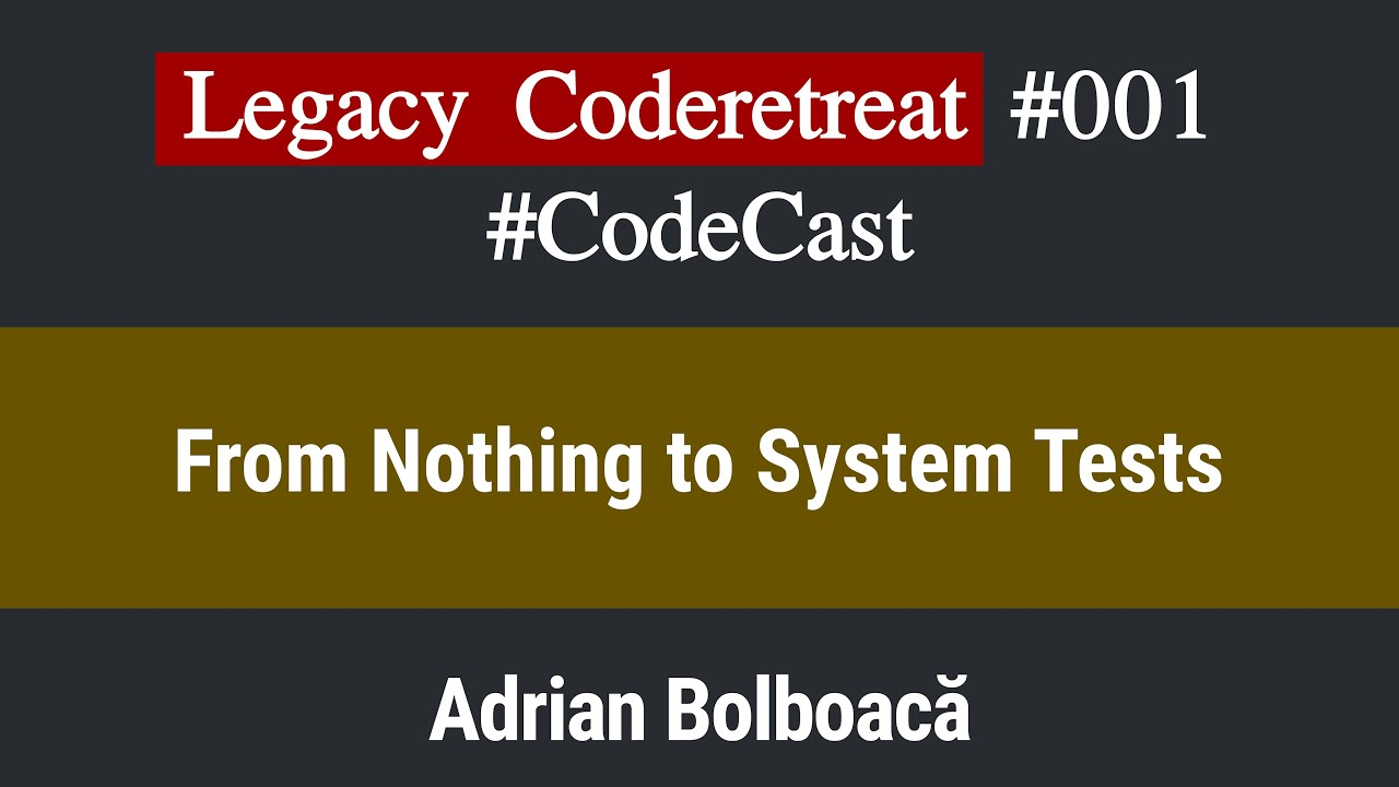 Code Cast: Legacy Coderetreat Episode 1 - From Nothing to System