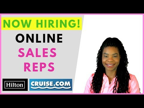 Now Hiring Hotel & Cruise Sales Reps! Online, Remote Work From Home Jobs | January 2019