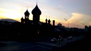 Старообрядческая церковь на закате video 2015 10 22 .  16