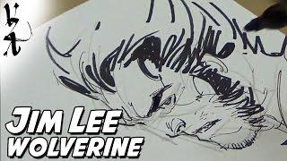 Jim Lee drawing Wolverine
