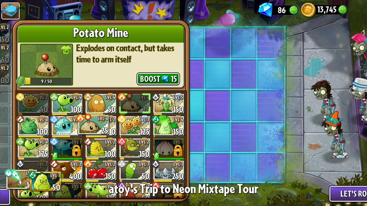 Plants vs Zombies 2 neon mixtape day 4