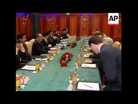 Chinese president meets Chancellor- designate Merkel