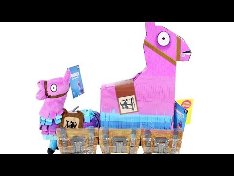 Fortnite Llama Drama Loot Pinata, Loot Chest Blind Box And Plush Unboxing Toy Review