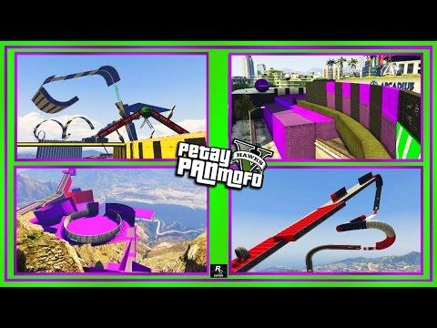 GTA Online Stunt Race Montage - Awesome Custom Stunt Race's (PS4) Rockstar Editor
