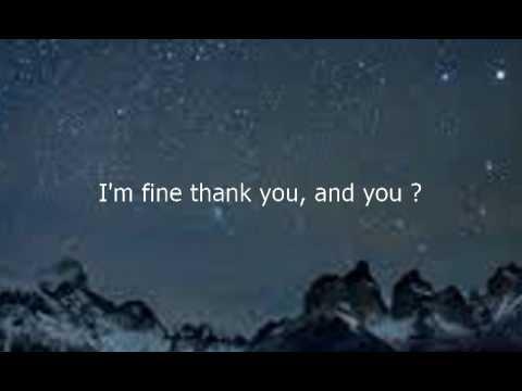 Como se dice en ingles estoy bien gracias y tu