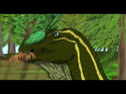 Hadrosaur Swamp Snack - Dinosaur Animation
