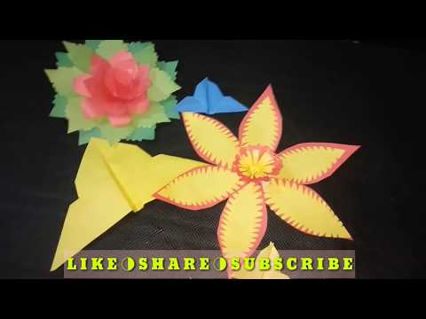 DIY-06 | Paper Work | Paper Carft | Making Flower with colore paper | Best Origami |