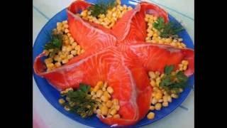 Идеи украшения салатов на празничный стол/Decorating ideas salads on the festive table