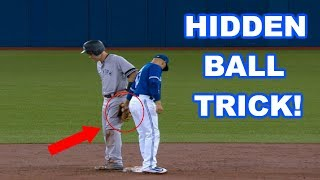 MLB | HIDDEN BALL TRICK! (FUNNY) | 1080p HD