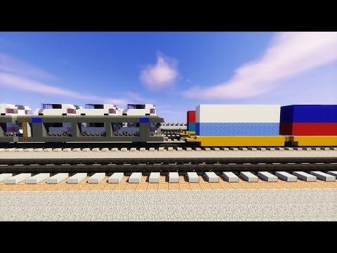 Minecraft Freight Railcars Train Tutorial Part 2