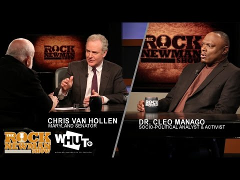 Senator Chris Van Hollen & Dr. Cleo Manago with Rock Newman