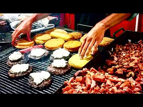 BEST Mexican Street Food EVER!!! - Street BURGERS - EXTREME