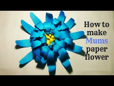 How to make Mums(chrysanthemum) paper flower Shim's-Paper Crafts