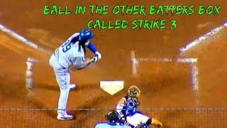 Strike 3's that were & weren't called