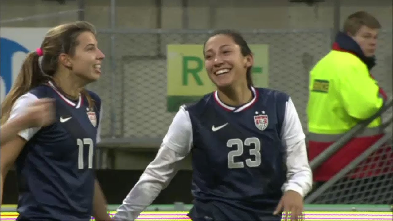WNT vs  Netherlands: Christen Press Goal - April 9, 2013