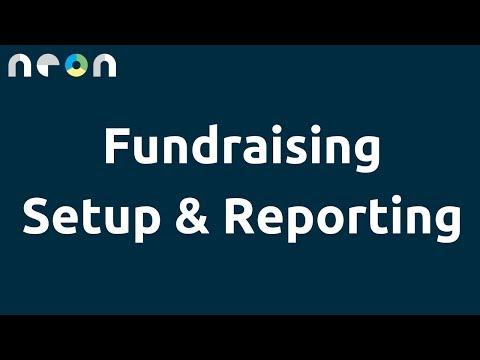 Fundraising Setup & Reporting