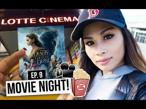 KOREA DIARY Ep. 9: Movie Night! Beauty & the Beast at Lotte Cinema! My typical weekend in Korea