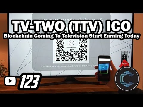 "TV-TWO ICO Token for Television ""TTV"" - Interactive Coin Offering - TV on the Blockchain"