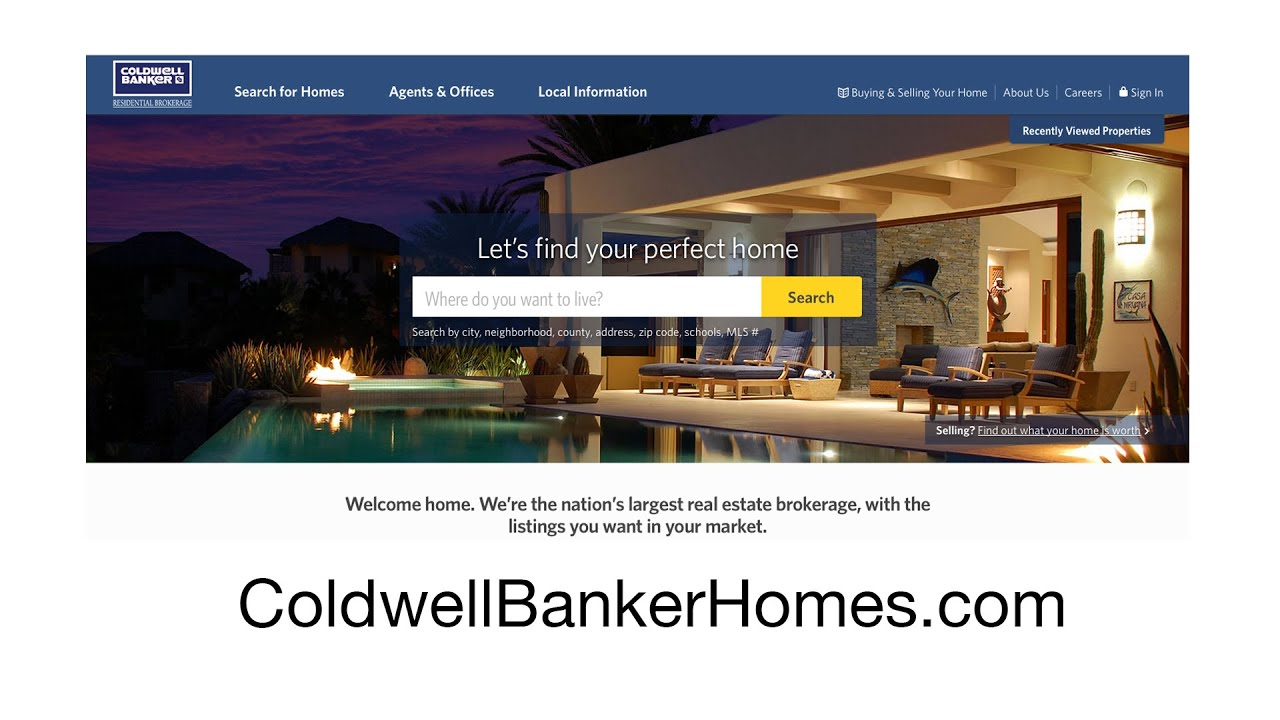 Introducing ColdwellBankerHomescom YouTube - Us zip code search by address