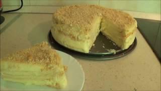 видео Закусочный торт Наполеон из готовых коржей