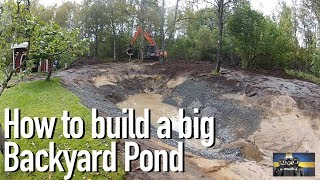 How to Build a Big Fish and Crayfish/Crawfish Pond in your Backyard