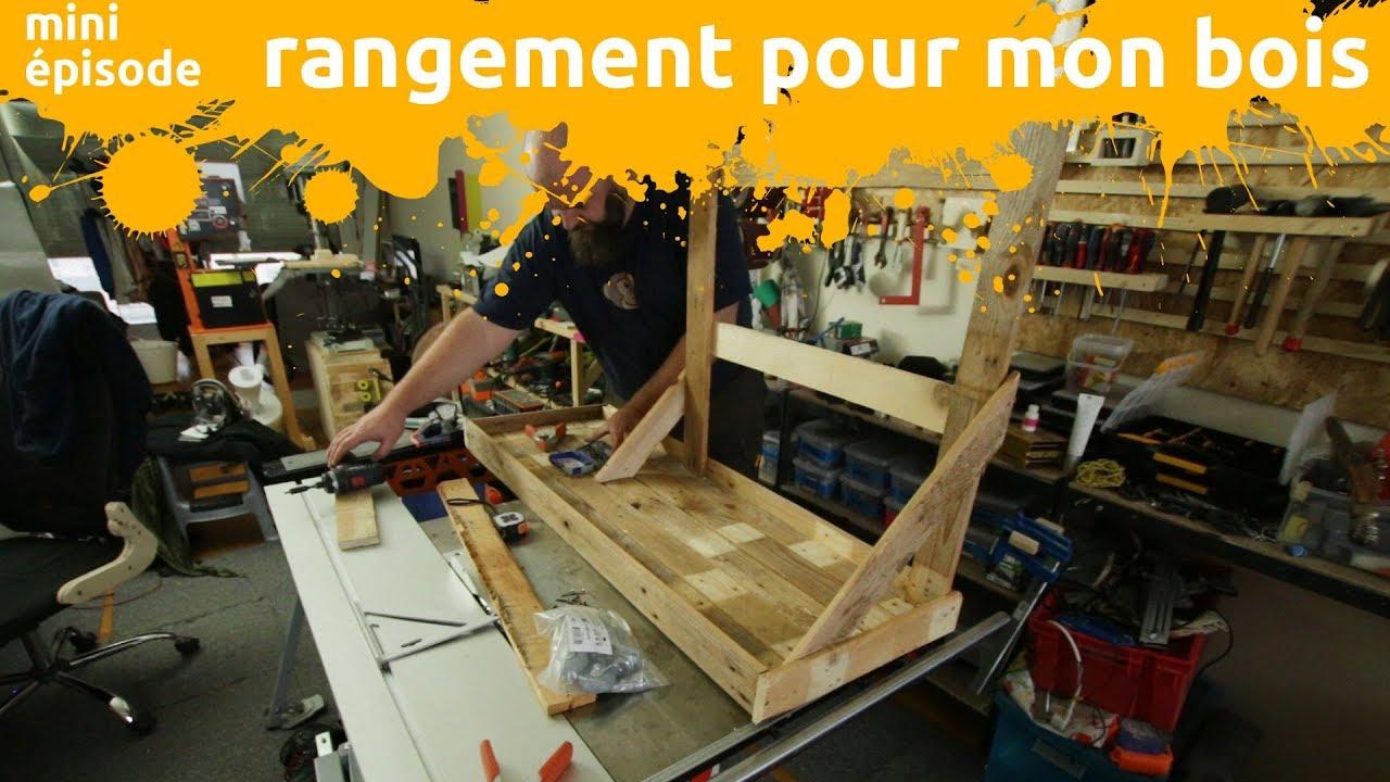 Rangement Pour Le Bois rangement pour mon bois - fabrication d'un rangement mobile en bois de  palette - miniepisode