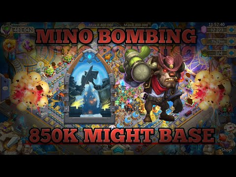 Castle Clash: Mino Bombing | 850k Base | Giftcard Giveaway