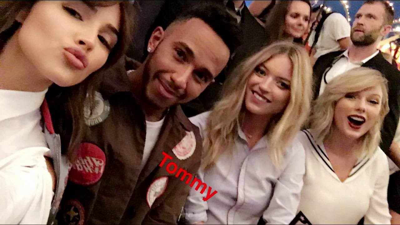 At the tommy hilfiger fashion show with taylor swift lewis at the tommy hilfiger fashion show with taylor swift lewis hamilton snapchat vlog youtube m4hsunfo