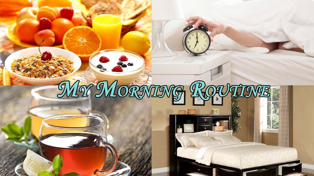My morning routine/Моё утро:3