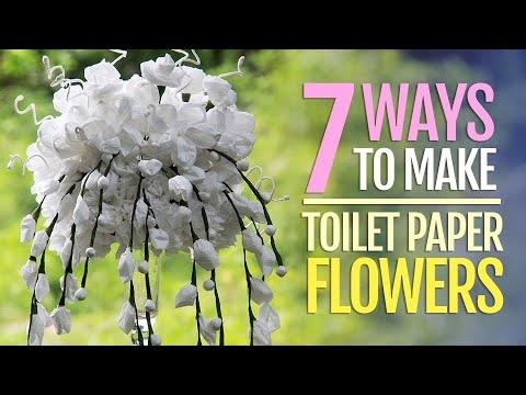 7 toilet paper flowers tutorial youtube