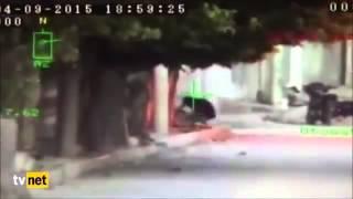 Mardin'de polise ateş açan PKK'lının vurulma anı