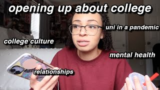 finally opening up about college: school, stress, and attending university in a pandemic