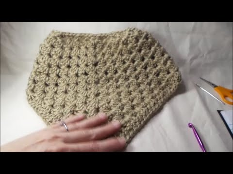 How To Crochet A Triangle Granny Cowl - YouTube