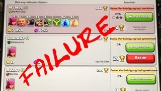Clash of Clans -MEGA LOL FAIL ATTACK -17 GIANTS lvl 5 -64 Archers lvl 5 /2x LVL 6 TESLA BURN IT DOWN
