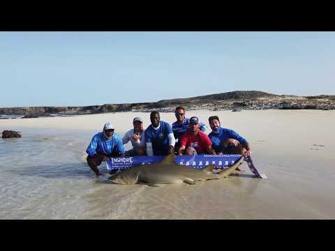 HEAVY SURF CASTING   SHARK FISHING WITH DRONE - INSHORE EXPERIENCE FISHING CAPE VERDE SAL ISLAND