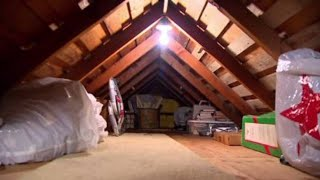VIDEO: Man finds woman living in attic