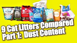 9 Cat Litters Compared (Part 1: Dustiness)